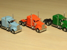 1:160 N Scale Kenworth W900L Tractor x2 in Frosted Ultra Detail