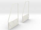 1:7 Bell Door Panels (Vario - Bell 412) in White Strong & Flexible