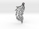 :Featherflight: Pendant in Polished Silver