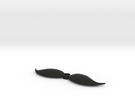 Mustache shaped outlet cover in Black Strong & Flexible