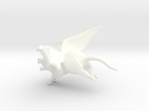 Winged Rat in White Strong & Flexible Polished