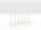 N-Scale Transmission Poles (10-Pack) in Frosted Ultra Detail