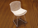 """Knoll Bertoia Side Chair 3.9"""" tall in White Strong & Flexible"""