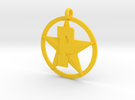 PHS charm - Plains Star in Yellow Strong & Flexible Polished