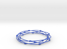 Droplet Bangle in Blue Strong & Flexible Polished