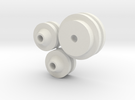 1/8 scale FlatHead Pulley Assembly in White Strong & Flexible
