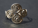 4 Spirals & Ovals Ring (Closed version ) - Size 17 in Polished Silver