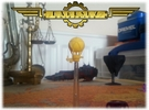 Gun-balloon | Steampunk Airship Miniature in Yellow Strong & Flexible Polished
