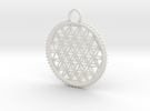 Tree of Life Pendant in White Strong & Flexible