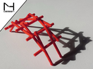 Leonardo Da Vinci's self supporting bridge (Large) in Red Strong & Flexible Polished