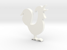 Rooster in White Strong & Flexible Polished