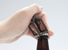 Open Huis Bottle opener - Tuit Gevel in Polished Bronze Steel