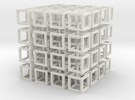 interlocked cubes 4 in White Strong & Flexible