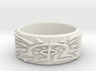 Eldritch Ring - Finger - Size 11.5 in White Strong & Flexible