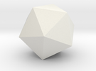 icosahedron-l in White Strong & Flexible