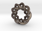 Charm Bead 3 strand mobius spiral in Stainless Steel