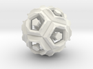 Dodecahedron Doodle in White Strong & Flexible