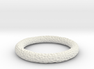 Coral Bangle in White Strong & Flexible