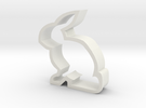 Bunny Cookie Cutter in White Strong & Flexible