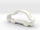 Car Cookie Cutter Like a Bug in White Strong & Flexible