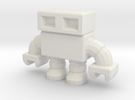 robot 0013, with hollow feet in White Strong & Flexible
