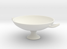 Greek Vase - Kylix A  in White Strong & Flexible