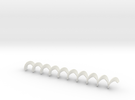Auger open 120mm in White Strong & Flexible