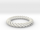 Braiding ring in White Strong & Flexible