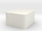 Pepper Grater_Collector Chamfer in White Strong & Flexible