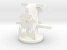 Gun Mount without deck or guns. in White Strong & Flexible Polished