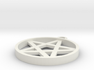 Simple Pentagram Pendant in White Strong & Flexible