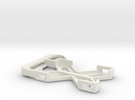 Galileo GoPro mount in White Strong & Flexible
