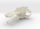 Xandar Lancer Frigate in White Acrylic