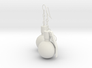 U.S. Army M67 granade earrings in White Strong & Flexible