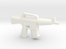 CAR-15 Extended Mag in White Strong & Flexible Polished
