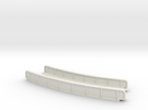 CURVED 220mm 30° SINGLE TRACK VIADUCT in White Strong & Flexible