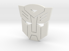 Autobot emblem small in White Strong & Flexible
