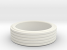 Grooved Ring in White Strong & Flexible