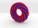 Colorful Torus with a Spiral Ring in Full Color Sandstone