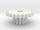 DS Small Gear Wheel in White Strong & Flexible