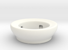 Fake Bowl  in White Strong & Flexible Polished