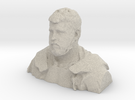 Demo H, Bust, 1/10th Scale - Sandstone,White in Sandstone