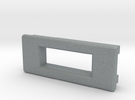 Screen Cradle - Rectangle with Filet Edges in Polished Metallic Plastic