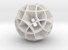 Rhombicosidodecahedron (wide) in White Strong & Flexible