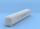N gauge 55ft interurban combine arch roof #2 in Frosted Ultra Detail