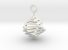 QTS earring small in White Strong & Flexible