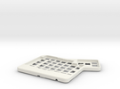 ErgoDox Top Right Case in White Strong & Flexible
