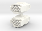 Missile Launcher 2 in White Strong & Flexible Polished