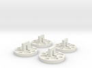 120 to 616 Film Spool Adapters, Set of 4 in White Strong & Flexible