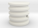 Turntable knob in White Strong & Flexible
